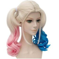 Women Cosplay Suicide Squad Harley Quinn Party Wigs Ladies Gradient Curly Wig US $14.99