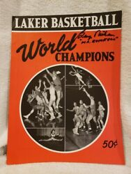 Vintage George Mikan Mr. Basketball Autoand039d Minneapolis Lakers 1950 Yearbook Mint