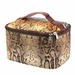 Small Cosmetic Makeup Bag Toiletry Organizer for Camping Hiking Travel Brown $8.69