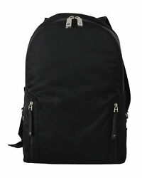 Dolce And Gabbana Bag Black Nylon Leather Mens Casual School Backpack Rrp 1650