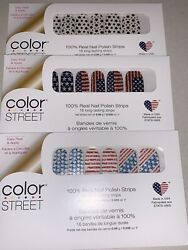 Flag You're It Flagtime Gal Star For The Course Colorstreet Nail Strip Bundle $25.00