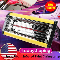 110v Spray/baking Booth Infrared Paint Curing Lamp 1000w Heating Light Heater Us