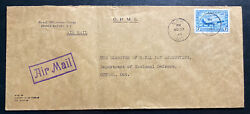 1943 Navy Post Office Canada Ohms Airmail Cover To National Defense Dept Ottawa