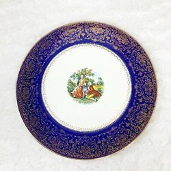 """Vtg Imperial Service Plate Salem China Co Colonial Victorian Couple 11"""""""