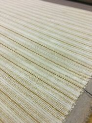 Bty Cream And Gold Epingle Stripe Upholstery Fabric Cb