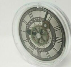 5 Oz. Pure Silver Coin - Peace Tower Clock 90th Anniversary - Mintage 1200
