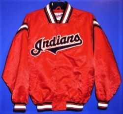 Cleveland Indians Red Size Xl Starter Mlb Baseball Jacket And Three Caps
