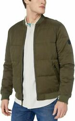 Rvca Men's Superior Quilted Bomber Jacket Large, Olive