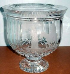 House Of Waterford Town Of Bethlehem Trifle Footed Bowl 10 Ireland 40004429 New