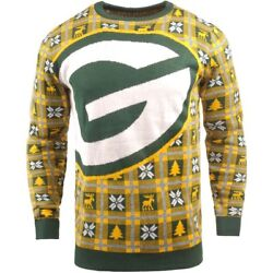 Nfl Ugly Sweater Green Bay Packers Jumper Christmas Big Logo Style Football 18