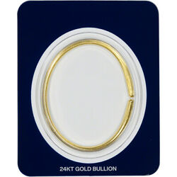 1 Oz Smooth Gold Wearable Bullion Bracelet - Dillon Gage - 999.9 Fine In Card
