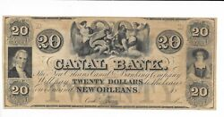 20 New Orleans Two Maidens Cherub Louisiana Canal And Banking Company 18xx G34a 1