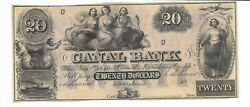 20 New Orleans Three Maidens Louisiana Canal And Banking Company 18xx Cu