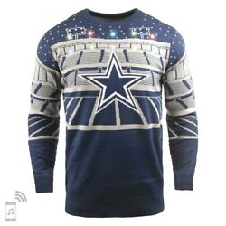 Nfl Ugly Sweater Dallas Cowboys Led Lighting Jumper Christmas Bluetooth 18
