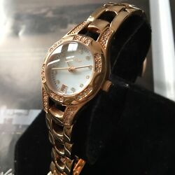 Ladies Relic Charlotte Watch By Fossil Rose Gold Crystals Steel Bracelet Genuine