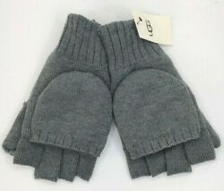 Ugg Men's Flip Mittens / Texting Gloves Charcoal Grey Large / Xl Nwt