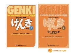Genki I 3rd Edition Japanese Textbook And Workbook With Store Original Sticky Note