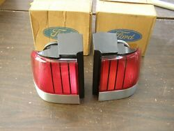 Nos Oem Ford 1989 1990 Cougar Xr7 Tail Lights Lamps Lenses Pair