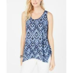 Style amp; Co Printed Scoop Neck Swing Top $9.00