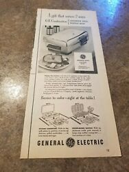 1954 Vintage Print Ad General Electric Sandwich Grill Waffle Iron