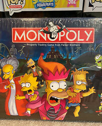 The Simpsons Tree House Of Horror Board Game Monopoly New Factory Sealed
