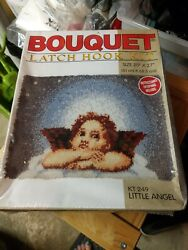 New Bouquet Brand Little Angel Latch Hook Rug Wall Hanging Kit 20quot; x 27quot; 249 $42.00