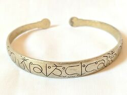Ancient Bracelet Vintage-antique Roman Style Silver Color Old Very Rare Jewelry