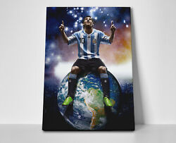 Lionel Messi World Poster Or Canvas