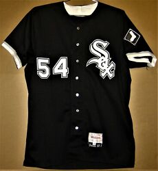 1993 Chicago White Sox Mike Dunne 54 Black Button-down Mlb Size 48 Jersey