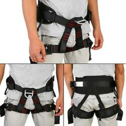 Outdoor Body Safety Rock Climbing Arborist Rappelling Harness Seat Belt Caving