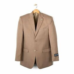 Stacy Adams 3 Piece Vested Solid Taupe Suit