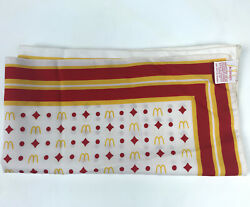 """Vintage Rare 1976 Mcdonalds Golden Arches Red And Yellow Manager Scarf 28.5""""x27"""""""
