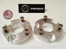 [sr] 2 Billet Front Leveling Spacer Lift Kit 15-21 Chevy Colorado / Gmc Canyon