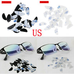 20 Pairs Self-adhesive Nose Pads Silicone Stick On Pads For Glasses Eyeglass Us