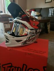 Troy Lee Designs D3 Carbon Mips Jet Sram Red Small W Oakley Air Brake MX Goggle $500.00
