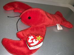 Pinchers Beanie Baby 1993, Ty Beanie Baby, Rare With Tag Errors Mint Condition.