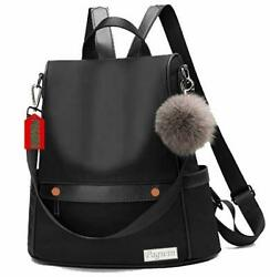 Girls Fashion Backpack Cute Mini Leather Backpack Purse for Women Black PG 003 $47.80
