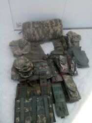 Us Army Molle Ii Rifleman Vest Fighting Load Carrier Set+waist Bag+23 Pouches