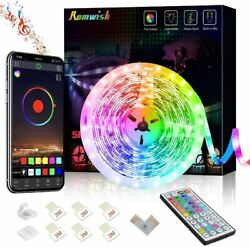 16ft Rgb Flexible Led Strip Lights With Remote Bluetooth App Control For Tvroom