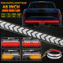 Truck Tailgate Strip 40quot; LED Sequential Turn Signal Brake Tail Reverse Light Bar