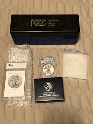 2019-s American Eagle One Ounce Silver Enhanced Reverse Proof Coin Pcgs Pr70