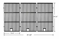 19 1/4 Porcelain Coated Cast Iron Grill Grates Replacement For...3 Pack New