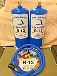 R12 Refrigerant R-12 2 28 Oz. Cans With Leak Stop Proseal Xl4 1 To 5 Hp
