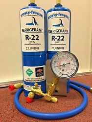 R22 Refrigerant R-22 Air Conditioner 2 28 Oz Cans Large Recharge Kit