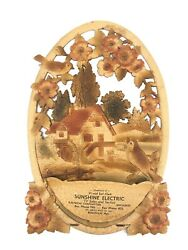 Embossed Die Cut Pulp Paper Wall Pocket Calendar Topper Germany Mica Accents