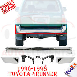Rear Bumper Chrome Steel With End Caps + Brackets For 1996-1998 Toyota 4runner