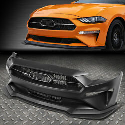 For 18-20 Ford Mustang Gt500 Style Front Hood Bumper Cover W/grille Replacement