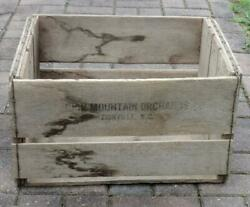 Vintage Wood Wooden Apple/fruit Box Crate - Rich Mountain Orchards Zionville Nc