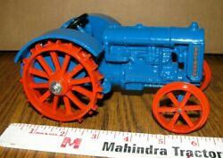 Ford Fordson Blue And Orange Steel Wheel Tractor 1/16 Scale Models 1997 Toy 408