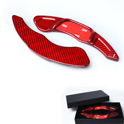 Carbon Red Steering Wheel Shift Paddle Extension For Vw Golf 7 R-line Gti Polo